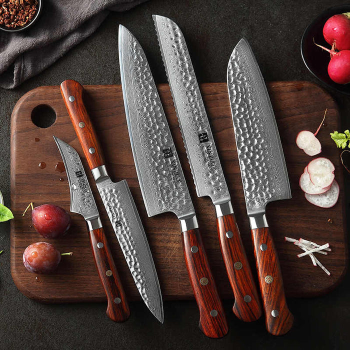 European kitchen knives and their sharpening with the TSPROF K03 knife sharpener