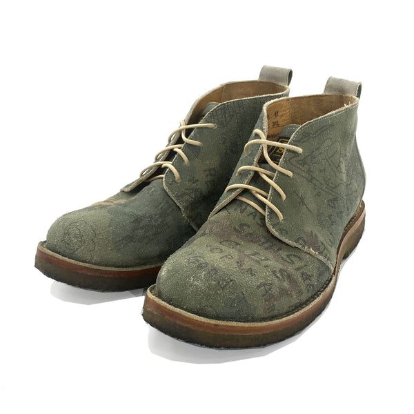 FUCT SSDD x UNMARKED 'CAMO' CHUKKA BOOTS - SIZE 9