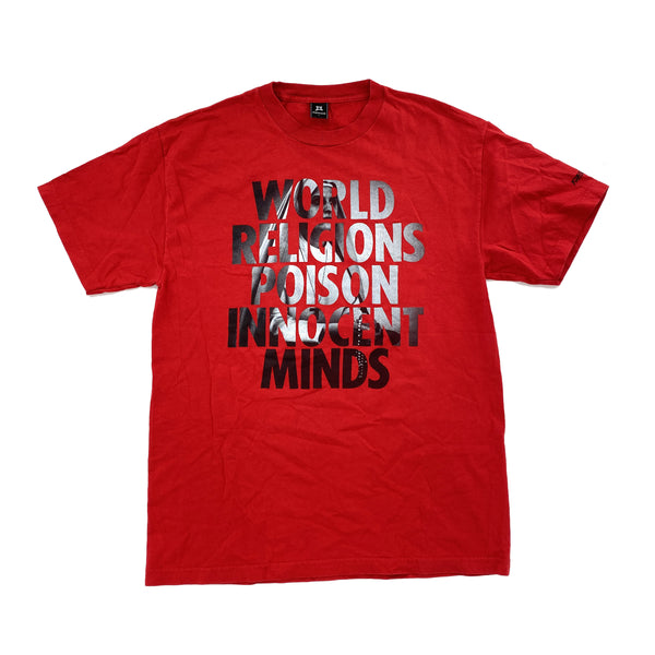 FRESHJIVE 'WORLD RELIGIONS POISON INNOCENT MINDS' TEE