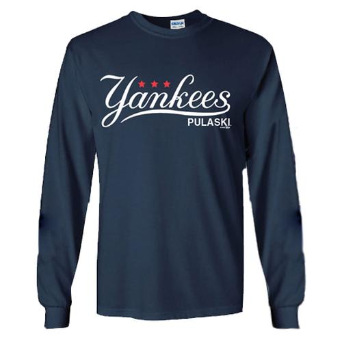 Pulaski Yankees Long Sleeve T-Shirt - Navy