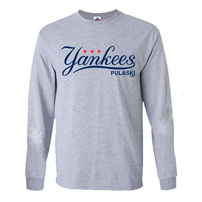 Pulaski Yankees Long Sleeve T-Shirt - Gray