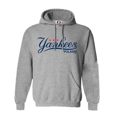 Pulaski Yankees Hooded Sweatshirt - Gray