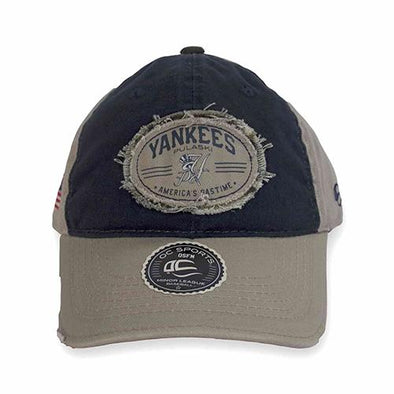 Pulaski Yankees Adjustable Cap - Khaki/Navy