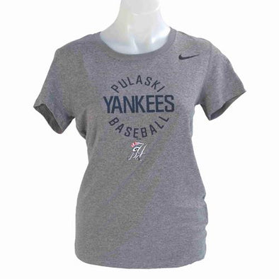 Pulaski Yankees Women's Pulaski Yankees Nike Dri-Fit T-Shirt - Gray