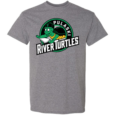River Turtles Patch Logo - Grey