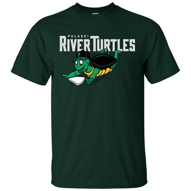River Turtles Primary Logo - Green