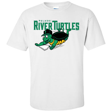 River Turtles Primary Logo - White