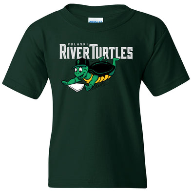 River Turtles Youth Primary Logo - Green