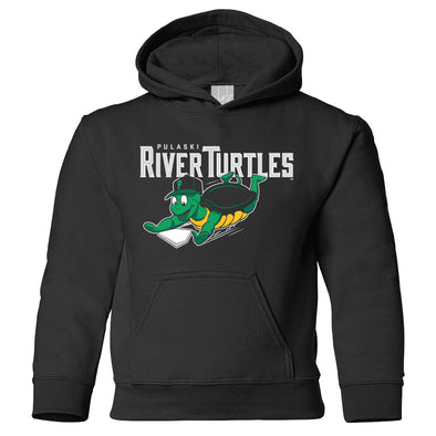 River Turtles Youth Sweatshirt - Black