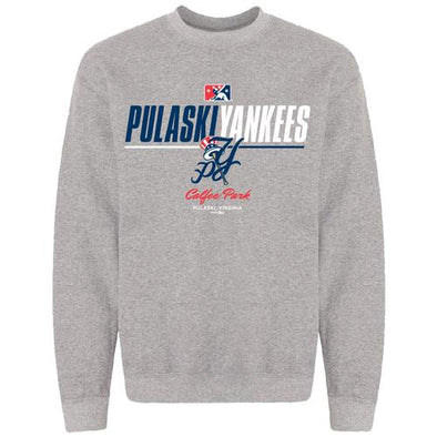 Pulaski Yankees Crew Neck Sweatshirt - Gray