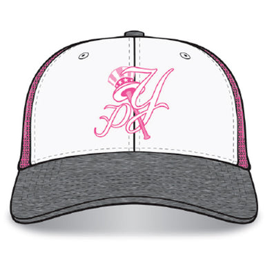 Pulaski Yankees Pink/Heather Cap