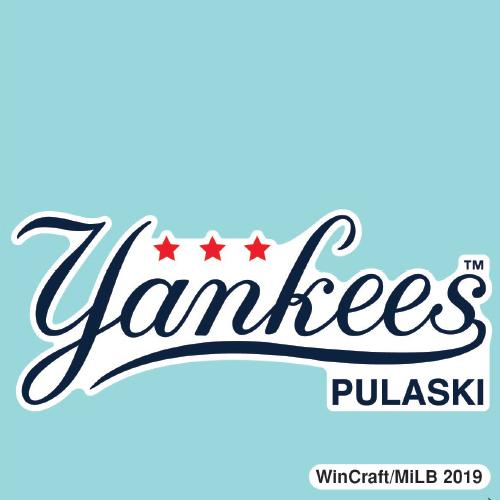 Pulaski Yankees Car Decal - Script Logo