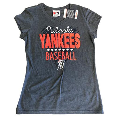 Pulaski Yankees Youth Pulaski Yankees Hearts T-Shirt