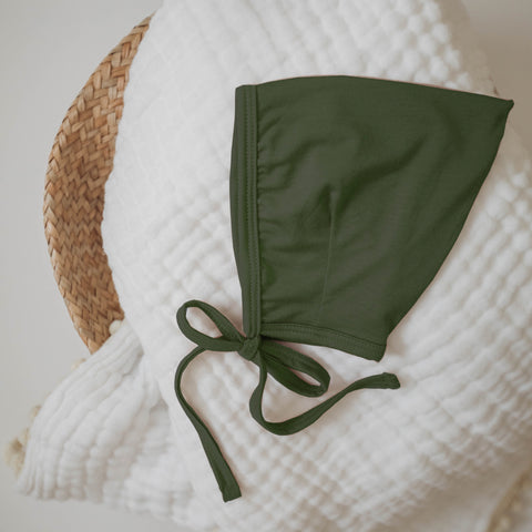 Bamboo Pixie Bonnet - Olive