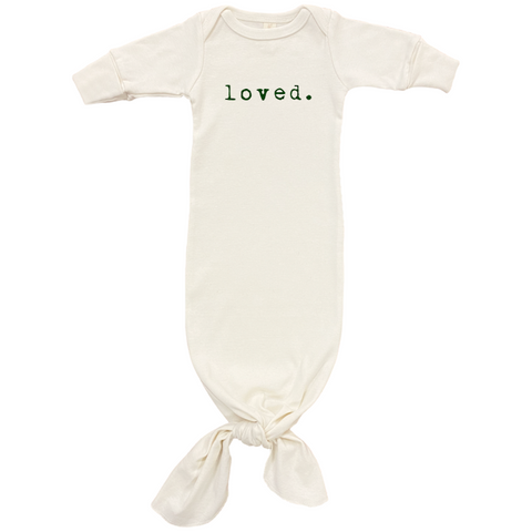 Loved - Organic Infant Gown - Olive