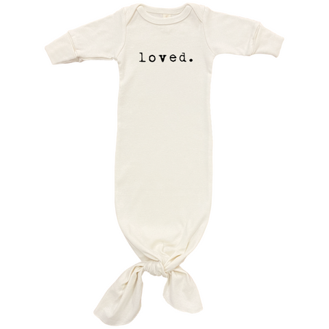 Loved - Organic Infant Gown - Black