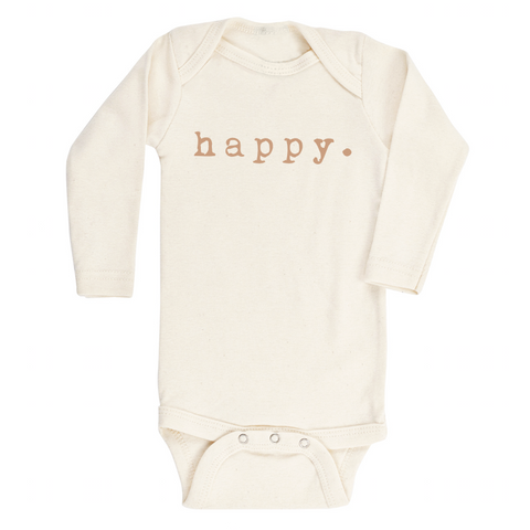 Happy - Bodysuit & Tee - Clay