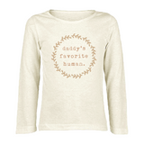 Daddy's Favorite Human - Bodysuit & Tee - Clay
