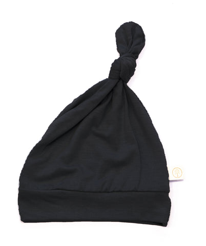 Bamboo Baby Top Knot Hat - Black