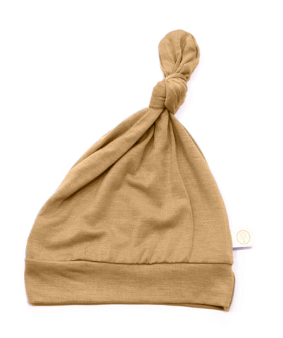 Bamboo Baby Top Knot Hat - Clay