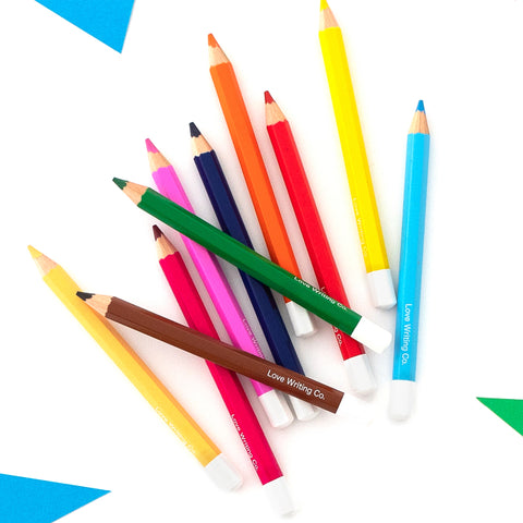 Children's small sized colouring pencils in different colours