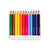 Line of coloured pencils all hexagon shaped for children Love Writing Co. erasable colouring pencils to encourage tripod grip for children