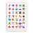 Activity book stickers sheet with brightly coloured animated characters