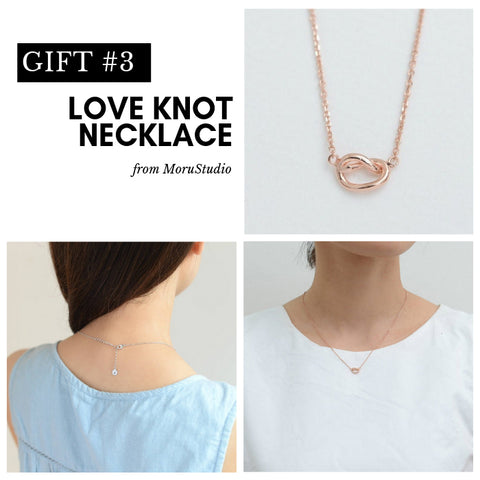 Love Knot Necklace for Bridesmaid Gifting
