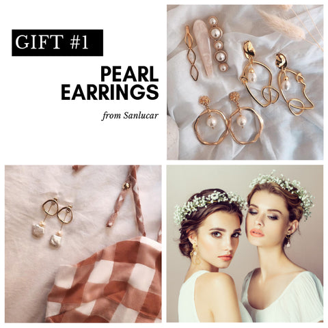 Pearl Earrings for brides and bridesmaids