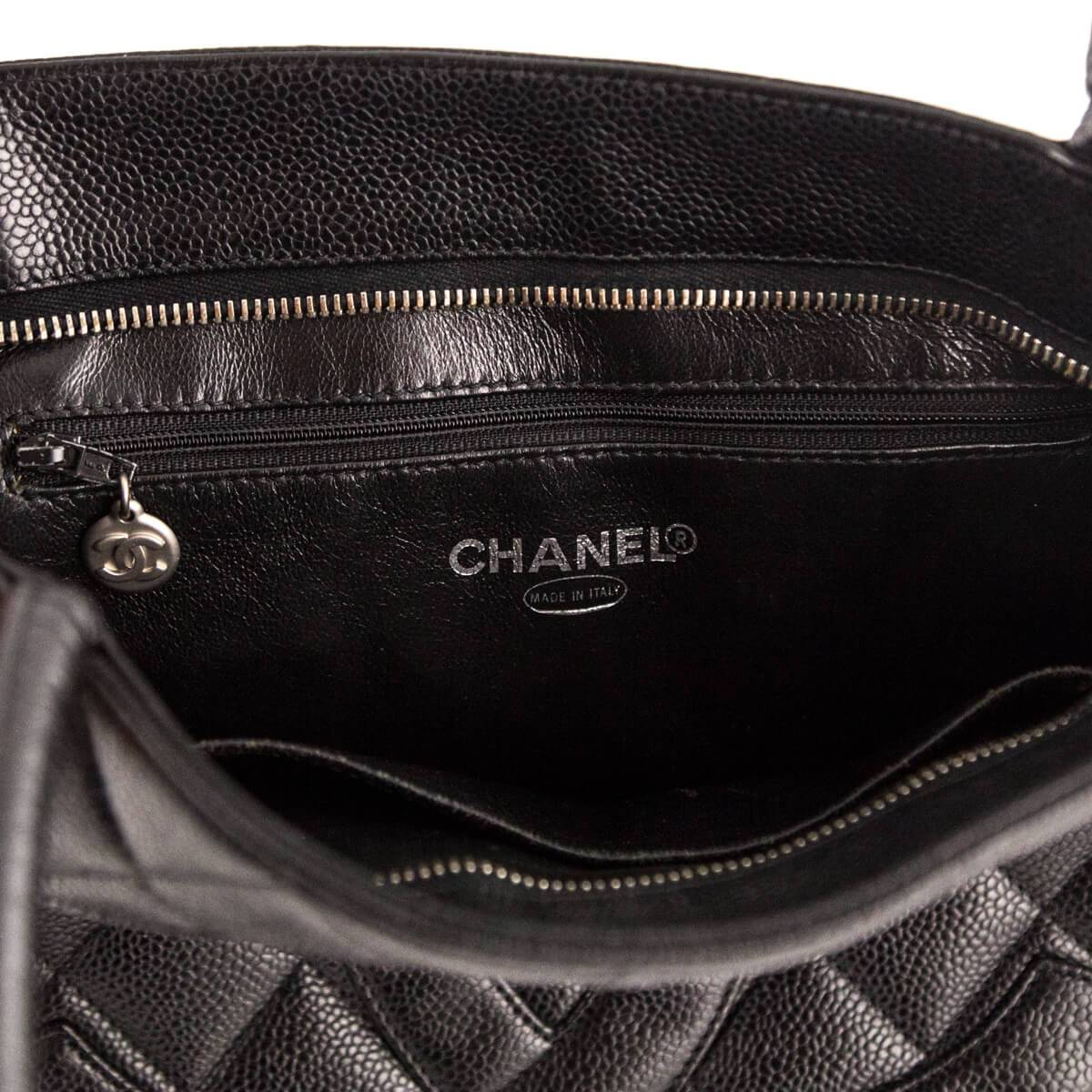 4f77ad733dde ... Load image into Gallery viewer, Chanel Black Caviar Medallion Tote ...