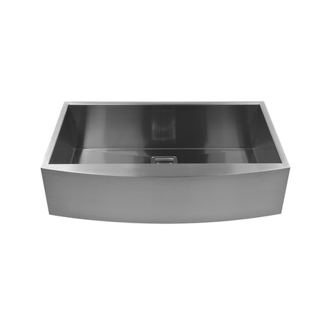 "36"" Single Bowl Round Bottom Farmhouse Sink"