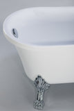"Cesano 63"" White Clawfoot Oval Freestanding Bathtub"