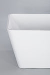 "Garda 67"" White Rectangle Freestanding Bathtub"
