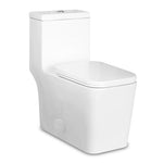Compact One Piece Square Seat Dual Flush Toilet 5019