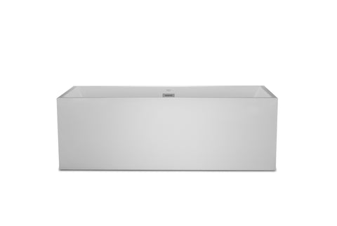 "Burano 60"" White Rectangle Freestanding Bathtub"