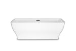 "Como 67"" White Rectangle Freestanding Bathtub"