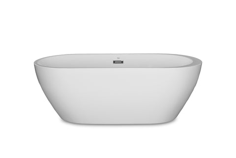 "Reno 67"" White Oval Freestanding Bathtub"