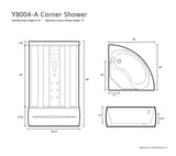 "36"" x 36"" Y8004-A Corner Shower Room"
