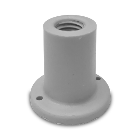 Plastic shower base foot