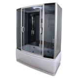 "66"" x 33"" Y9007 Rectangle Steam Shower & Whirlpool Tub"