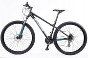 "Monteria SHOTTAS 0.1 29 17"" 19"" 21"" Black Blue 2020 Mountain Bike - lescycles.co.uk"