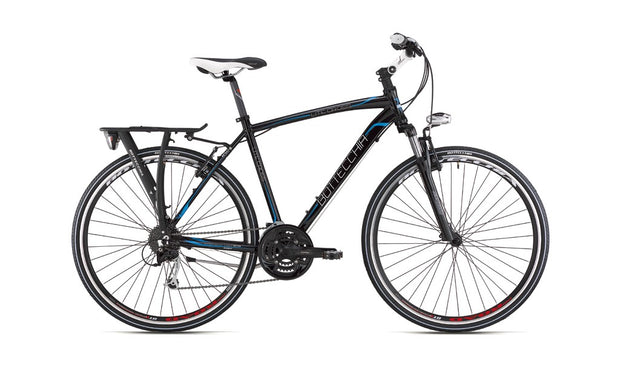 Bottecchia Lite Cross Acera Black 2020 Hyrbid Bike - lescycles.co.uk