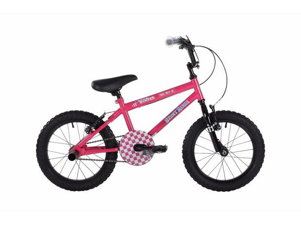Bumper Stunt Rider Fun Kids Bike Pink 16""