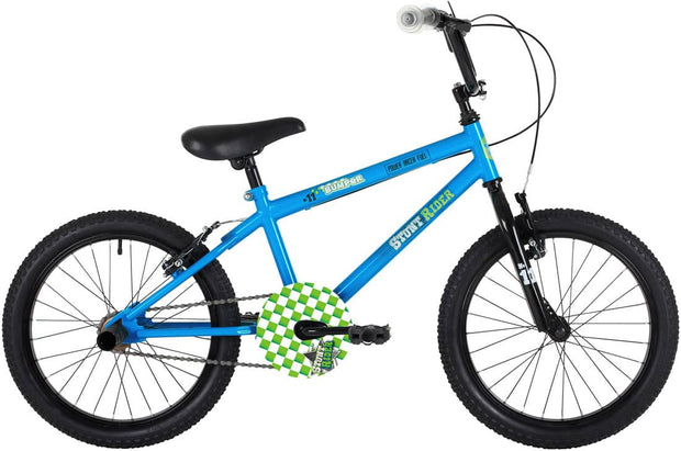 Bumper Stunt Rider Fun Kids Bike Blue 18""