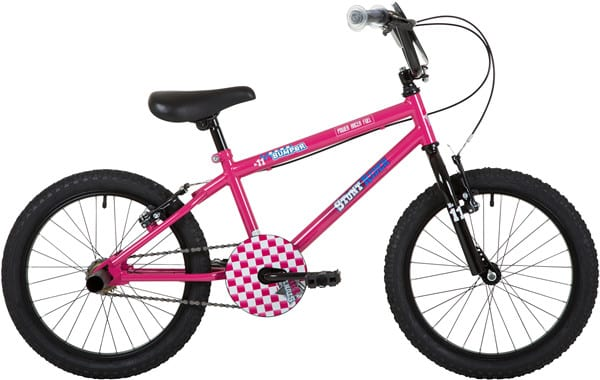 Bumper Stunt Rider Fun Kids Bike Pink 18""