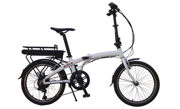 Batribike DART Lightweight White Folding Electric Bike E-Bike