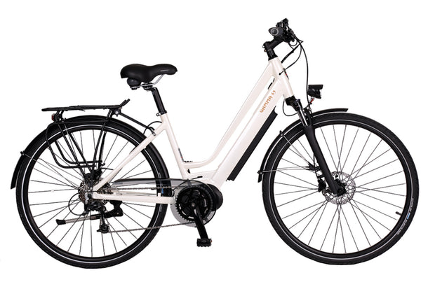 Batribike Gamma S White Shadow Step Through E-Bike - lescycles.co.uk