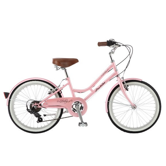 "Probike Mini Vintage Pink 20"" Girls Kids Bike"