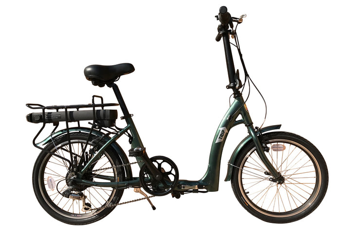 Batribike TRIP Low Step Through Green Folding Electric Bike E-Bike