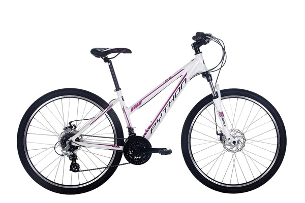 "Python Trail 18"" Matt White Womens Ladies Mountain Bike"